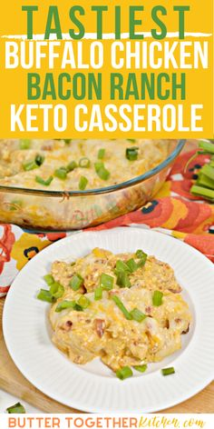 Low Carb Recipes, Diet Recipes, Chicken Recipes, Cooking Recipes, Healthy Recipes, Keto Chicken, Lunch Recipes, Chicken Bacon Ranch Casserole, Keto Casserole