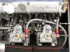 Dual Weber 40DCOE carburetors.