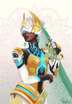 Welcome to my reality. by Helmiruusu.deviantart.com on @DeviantArt - More at https://pinterest.com/supergirlsart #symmetra #overwatch #fanart