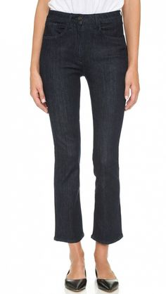 3x1 The Principle High Rose Crop Micro Flare Jeans
