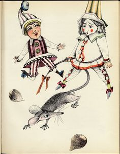 From E. T. A. Hoffmann´s The Nutcracker and the Mouse King, as illustrated by Dagmar Berková. Published in Prague, 1964.