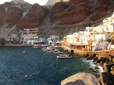 Ammoudi, small port on the island of Santorini