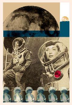 Spacegirl collage