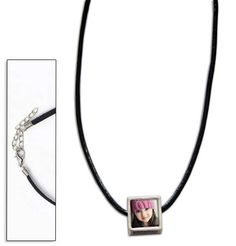 Leather Necklace with Picture Bead and Krystal Clear-Itz Covers