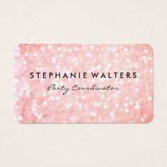 Wedding elegant pink summer rose wedding menu card wedding elegant pink glitter business card colourmoves