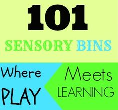 101 Sensory Bins ideas perfect for early learning.