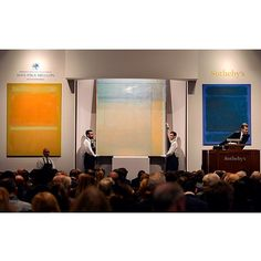 """Global bidding for an American icon: Masterworks from the Collection of Mrs. Paul Mellon brought a spectacular $158.7 million tonight, well above expectations. The auction achieved fabled """"white glove"""" status, with every lot finding a buyer. The sale was led by two paintings by Mark Rothko that together achieved $76.5 million. Sales from Mrs. Mellon's collections continue with the public exhibition of her Jewelry and Interiors opening this Saturday at 10 am. at Sotheby's Auction House"""