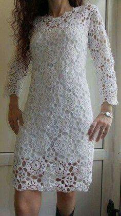 Vestidos Lace Top Dress, Girls Lace Dress, I Dress, Girls Dresses, Crochet Wedding Dresses, Crochet Summer Dresses, Russian Crochet, Knit Or Crochet, Crochet Magazine