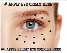 How to apply Multi-function Eye Cream and Bright Eye Complex