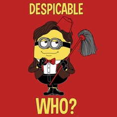 Despicable Who @drwho T-Shirt Designed by JadeSigma