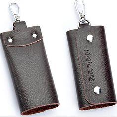 Genuine Leather Men's Key Wallets Hasp key Organizer key Holder Men Car Keys Bag Men's Casual Keychain Covers Package Cowhide