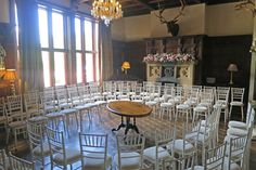 Ceremony in the Great Hall in the round - Huntsham Court