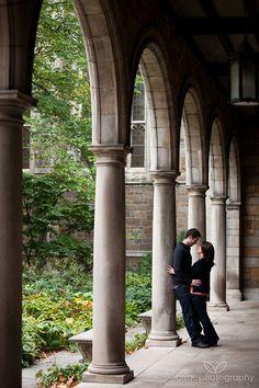 Ann Arbor Engagement Photos -michigan campus