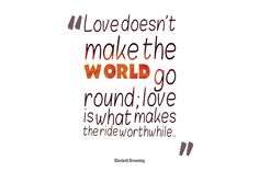 Quote about love and world