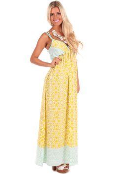 Lime Lush Boutique - Lemon Printed Flow Maxi Dress, $68.99 (http://www.limelush.com/lemon-printed-flow-maxi-dress/)