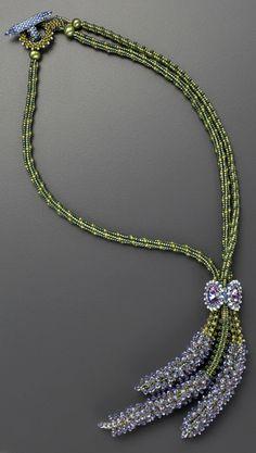 Bouquet de Lavande Beaded Necklace by Laura McCabe