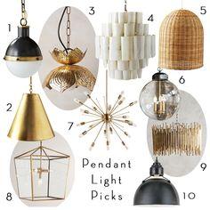 New Pendant Lighting Roundup | BECKI OWENS | Bloglovin'