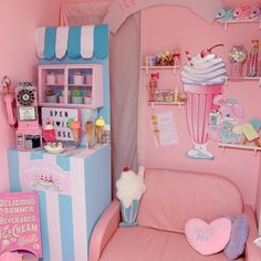 ⭐ Nagoya's Fluffy Bunny Shop has the sweetest ice cream photo booth ever! 🍦 Each dreamy shot taken here is full of kawaii vibes! Aesthetic Images, Aesthetic Backgrounds, Aesthetic Vintage, Pink Aesthetic, Pastel Room, Kawaii Room, Japanese Aesthetic, Everything Pink, Busan