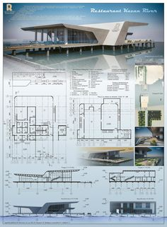No photo description available. Architecture Blueprints, Architecture Concept Drawings, Architecture Portfolio Layout, Architecture Board, Futuristic Architecture, Architecture Design, Computer Architecture, Architecture Student, Presentation Board Design