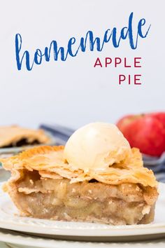 Did you know making a homemade apple pie is actually quit simple? Here is the perfect easy recipe for all your fall, handpicked apples! Homemade Apple Pies, Apple Pie Recipes, Apple Desserts, Fall Recipes, Holiday Recipes, Dessert Recipes, Simple Apple Pie Recipe, Apple Pie Spice, American Desserts