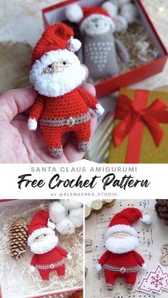 Crochet Christmas Ornaments, Christmas Stockings, Superman Crochet, Easy Gifts To Make, Step By Step Crochet, Stitch Design, Free Crochet, Free Pattern, Crochet Patterns