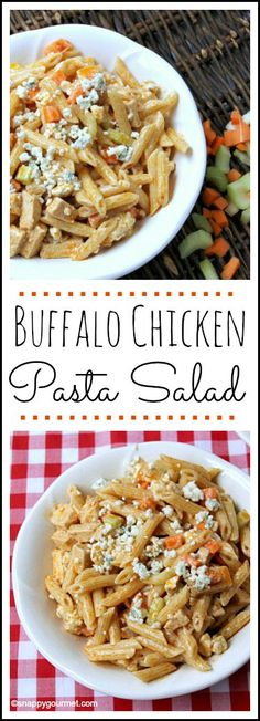 Looking for cold picnic food recipes? This buffalo chicken pasta salad is perfect for picnics