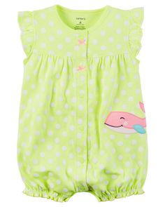 Baby Girl Snap-Up Neon Romper from Carters.com. Shop clothing & accessories from a trusted name in kids, toddlers, and baby clothes.