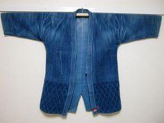 vintage Japanese indigo sashiko wear KENDO-GI AIZOME by ohayashiya
