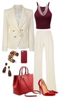 """Handbag- Saffiano leather Tuscany Leather Bag"" by bags4business on Polyvore featuring Pierre Balmain, Tuscany Leather, Belk Silverworks, Christian Louboutin, Apple, Humble Chic, Kendra Scott, handbags and casualbags"