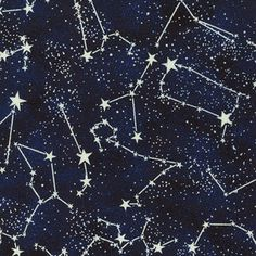 Glow in the dark constellation fabric