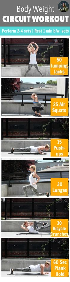 Bodyweight Workout Routine for Calorie Burn - www.fitwirr.com