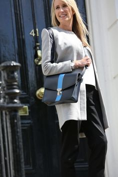 Our Navy and blue shoulder bag - perfect for keeping up with the AW tailoring trend.  http://www.zatchels.com/bags/shoulder-bag-collection/navy-shoulder-bag-with-blue-stripe.html