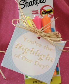 "Could also read, ""You are the highlight of my life.""  Love it!"