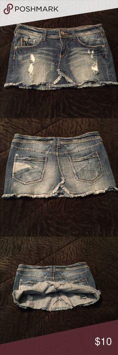 Mini Jean Skirt Fun trendy blue jean mini skirt. Bought but never worn Skirts Mini