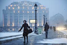 Christophe Jacrot ~ Paris under the Rain Paris Snow, Paris Winter, Paris Paris, Christophe Jacrot, Under The Rain, France 3, Paris Ville, Portraits, French Photographers