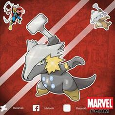 Pokemon Funny, New Pokemon, Pokemon Stuff, Pokemon Fusion, Pokemon Crossover, Anime Crossover, Thor, Marvel Vs, Avengers