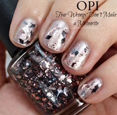 OPI Two Wrongs Don't Make a Meteorite Nail Polish Swatches // Starlight Collection for Holiday 2015