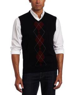 Geoffrey Beene Men's Sa Fancy Vest, Black, Small