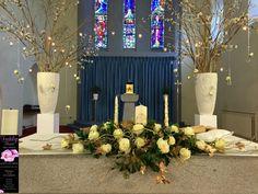 Keadue Church – Wedding Flowers by Feehily's Florist Church Wedding Flowers, Church Weddings, Table Decorations, Website, News, Check, Blog, Blogging, Wedding Church