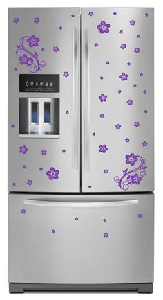 Refrigerator Design Decal #41 Your refrigerator will look lacy and dainty with your new Refrigerator Design Decal #41. Be sure to alter the size and color of this decal so that it will look best on your fridge! Interior wall decor stickers come with a MATTE finish that is easier to remove from painted surfaces Exterior stickers for cars, bathrooms and refrigerators come with a stickier GLOSSY...