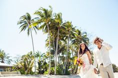 Our beach wedding in North Queensland, Australia. Wedding dress by Andrea Gorrie for sale! More pics at http://muuttolintu.com/2015/11/22/meidan-rantahaat-australiassa/