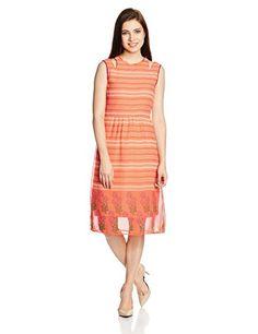109F-Womens-A-Line-Dress-EA15PARA03M-MulticolourXX-Large