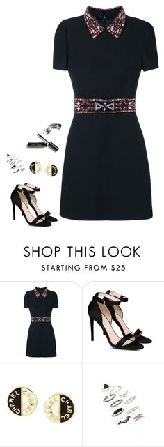 """""""Untitled #573"""" by h1234l on Polyvore featuring Valentino, STELLA McCARTNEY, Chanel, Topshop and Bobbi Brown Cosmetics"""