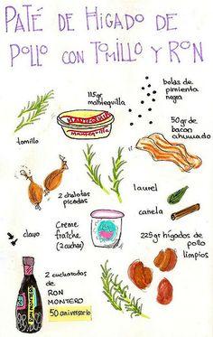 pate de higado de pollo con ron receta tomillo especias bacon | por GastroAndalusi