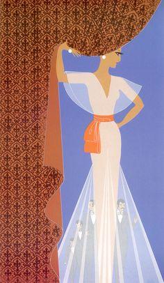 Erté, 'The Curtain,' Art Deco
