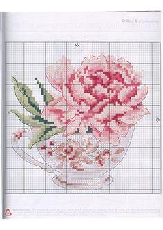 Embroidery flowers rose free pattern Ideas for 2019 Cross Stitch Kitchen, Cross Stitch Love, Cross Stitch Flowers, Cross Stitch Charts, Cross Stitch Designs, Cross Stitch Patterns, Diy Embroidery, Cross Stitch Embroidery, Embroidery Patterns