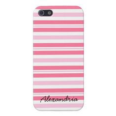 Thick Pink Stripes iPhone 5 Case