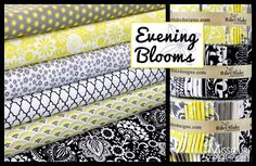 this is just gorgeous! Evening Blooms by Carina Gardner for Riley Blake Designs