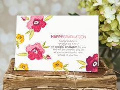 Project by Ashley Cannon Newell for Papertrey Ink (Brushed Blooms + Tucked In: Congratulations + Keep It Simple: Graduation - March 2015) #PaperSuite #AshleyCannonNewell #PapertreyInk