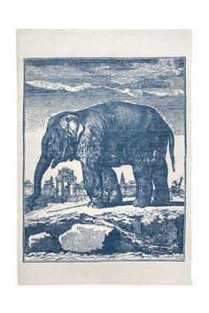 Elephant Etching Bath Mat design by Thomas Paul